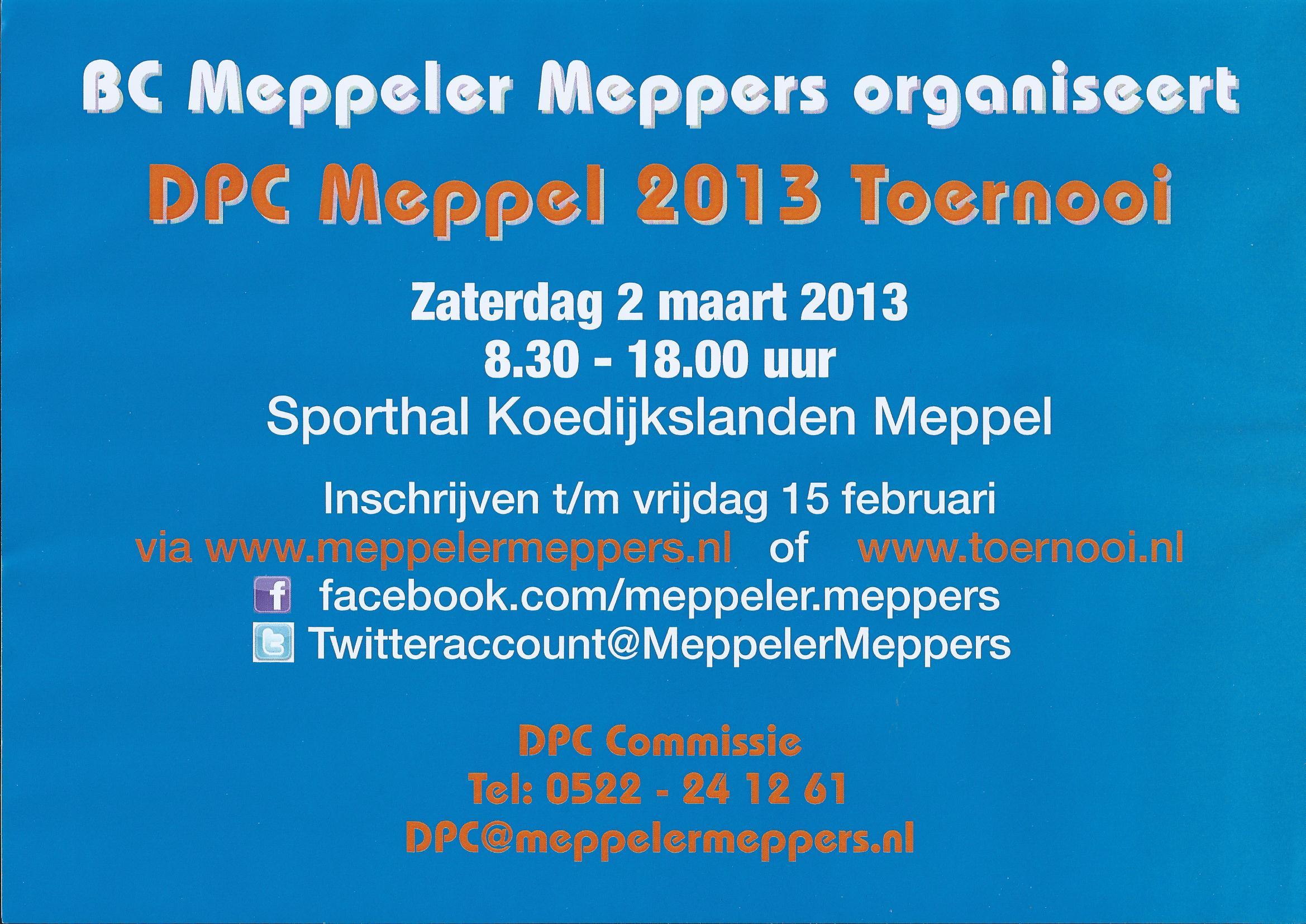 2013-03-02 DPC Meppel 2013 Flyer