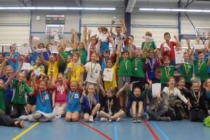 Druk bezocht schoolbadminton toernooi
