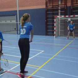 2016-12-01 Sinterklaas en badminton Pieten