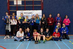 Alleen maar enthousiaste badmintonners in Meppel