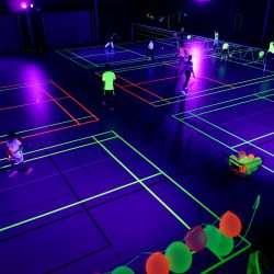 2018-06-21 Blacklight Badminton
